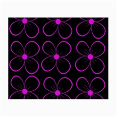 Purple floral pattern Small Glasses Cloth (2-Side)