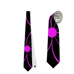 Purple floral pattern Neckties (Two Side)