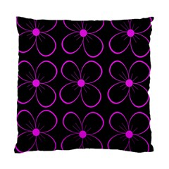 Purple floral pattern Standard Cushion Case (Two Sides)