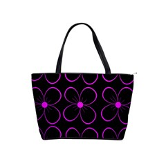 Purple floral pattern Shoulder Handbags