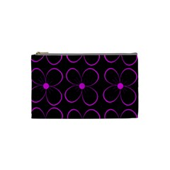 Purple floral pattern Cosmetic Bag (Small)