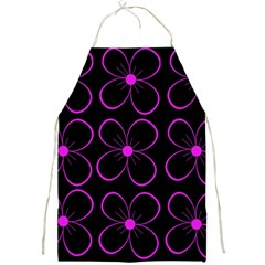 Purple floral pattern Full Print Aprons