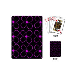 Purple floral pattern Playing Cards (Mini)