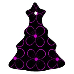 Purple floral pattern Ornament (Christmas Tree)