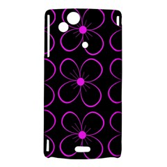 Purple floral pattern Sony Xperia Arc
