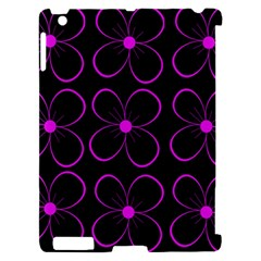 Purple floral pattern Apple iPad 2 Hardshell Case (Compatible with Smart Cover)