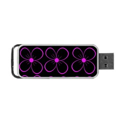Purple floral pattern Portable USB Flash (One Side)