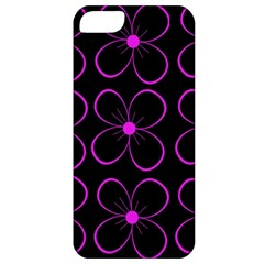 Purple floral pattern Apple iPhone 5 Classic Hardshell Case
