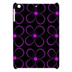 Purple floral pattern Apple iPad Mini Hardshell Case