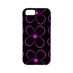 Purple floral pattern Apple iPhone 5 Classic Hardshell Case (PC+Silicone)