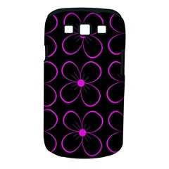 Purple floral pattern Samsung Galaxy S III Classic Hardshell Case (PC+Silicone)
