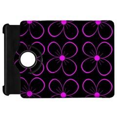 Purple floral pattern Kindle Fire HD Flip 360 Case