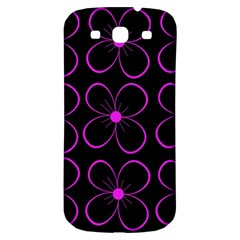 Purple floral pattern Samsung Galaxy S3 S III Classic Hardshell Back Case