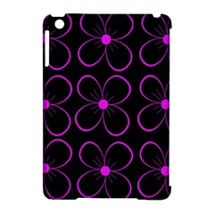 Purple floral pattern Apple iPad Mini Hardshell Case (Compatible with Smart Cover)