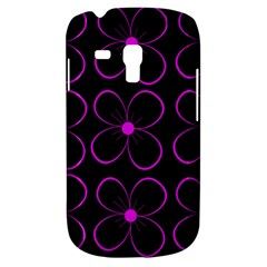 Purple floral pattern Samsung Galaxy S3 MINI I8190 Hardshell Case