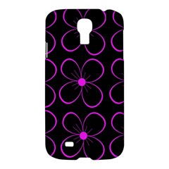 Purple floral pattern Samsung Galaxy S4 I9500/I9505 Hardshell Case
