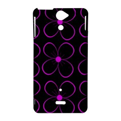 Purple floral pattern Sony Xperia V