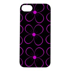 Purple floral pattern Apple iPhone 5S/ SE Hardshell Case