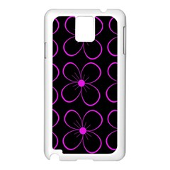 Purple floral pattern Samsung Galaxy Note 3 N9005 Case (White)