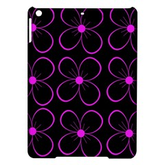 Purple floral pattern iPad Air Hardshell Cases