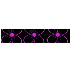 Purple floral pattern Flano Scarf (Small)