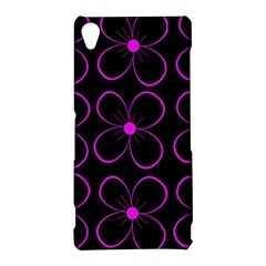Purple floral pattern Sony Xperia Z3