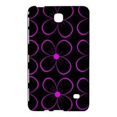 Purple floral pattern Samsung Galaxy Tab 4 (7 ) Hardshell Case