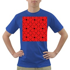 Red floral pattern Dark T-Shirt