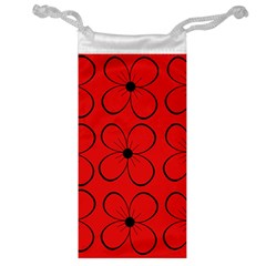 Red floral pattern Jewelry Bags