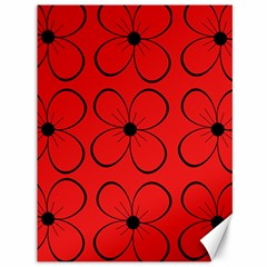 Red floral pattern Canvas 36  x 48
