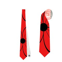 Red floral pattern Neckties (Two Side)