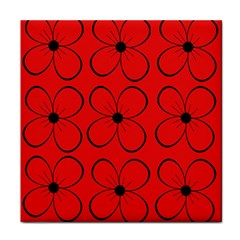 Red floral pattern Face Towel