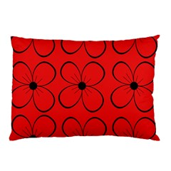 Red floral pattern Pillow Case
