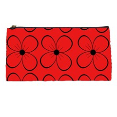 Red floral pattern Pencil Cases