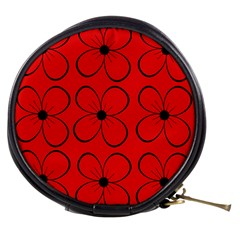Red floral pattern Mini Makeup Bags
