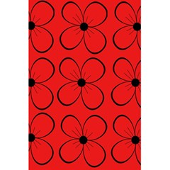 Red floral pattern 5.5  x 8.5  Notebooks