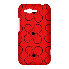 Red floral pattern HTC Rhyme