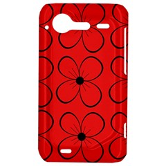 Red floral pattern HTC Incredible S Hardshell Case