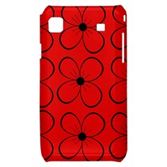 Red floral pattern Samsung Galaxy S i9000 Hardshell Case