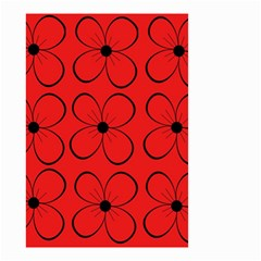 Red floral pattern Small Garden Flag (Two Sides)