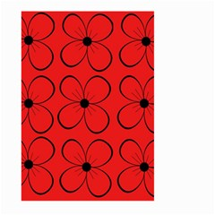 Red floral pattern Large Garden Flag (Two Sides)