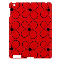 Red floral pattern Apple iPad 3/4 Hardshell Case