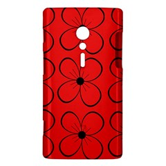 Red floral pattern Sony Xperia ion