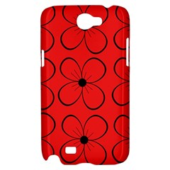 Red floral pattern Samsung Galaxy Note 2 Hardshell Case