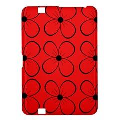 Red floral pattern Kindle Fire HD 8.9