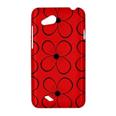 Red floral pattern HTC Desire VC (T328D) Hardshell Case