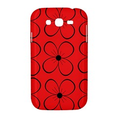 Red floral pattern Samsung Galaxy Grand DUOS I9082 Hardshell Case
