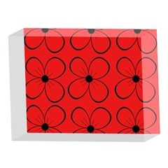 Red floral pattern 5 x 7  Acrylic Photo Blocks