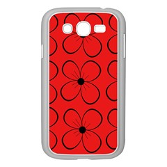 Red floral pattern Samsung Galaxy Grand DUOS I9082 Case (White)