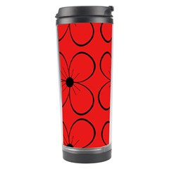 Red floral pattern Travel Tumbler